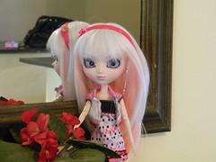 Mirror ( Angel in Wonderland ) Tags: pink white branco aya doll ebay g rosa wig pullip sb emilly obitsu 27cm