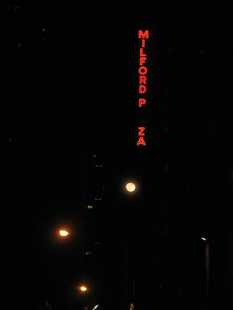 super moon over Broadway and 45th Street 5139