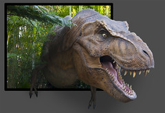 Must go faster! (Sam2000001) Tags: park out nikon dinosaur reptile teeth jurassic extinct trex bounds 18200mm d90
