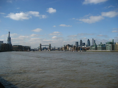 The City, Tower Bridge and the Shard - seen from Bermondsey