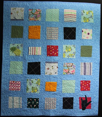 recycled clothing quilt, memory quilt, mamaka mills
