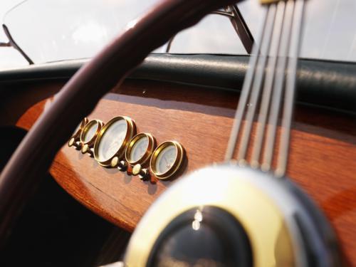 Boat steering wheel.