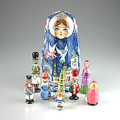 Christmas Angels Russian Ornaments Doll (The Russian Store) Tags: trs matrioshka matryoshka russiannestingdolls  stackingdoll  russianstore  russiangifts  russiancollectibledolls shoprussian