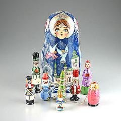 Christmas Angels Russian Ornaments Doll (The Russian Store) Tags: trs matrioshka matryoshka russiannestingdolls  stackingdoll  russianstore  russiangifts  russiancollectibledolls shoprussian