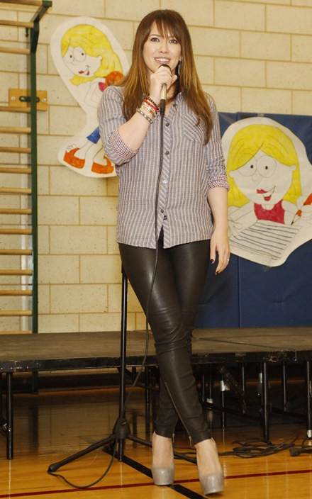 "#7029048 Hilary Duff visits Edward Jenner Elementary Academy of the Arts in Chicago, IL on March 23, 2011 to promote ""Blessings in a Backpack"" a program geared to help feed nutritious meals and ready to eat snacks to hungry kids around the country.. Fame"