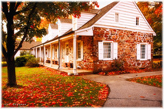 Fall colors (Jeff_B.) Tags: autumn fall classic dutch leaves vintage newjersey colorful antique 1876 berdan vanripperhopperhouse jerseydutch