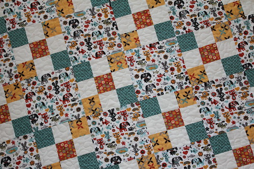 Max and Whiskers Baby Quilt Close Up