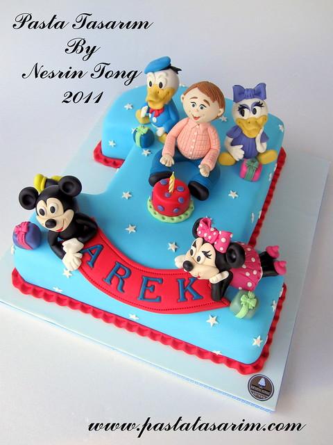 1ST BIRTHDAY CAKE - DISNEY CHARACTERS ( AREK BIRTHDAY)