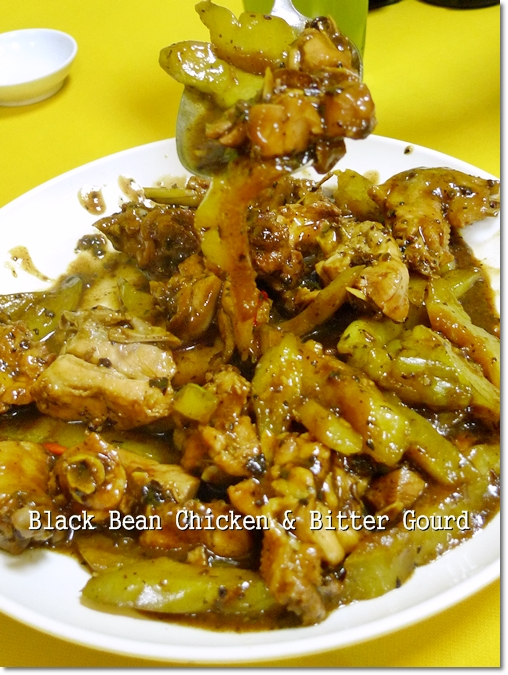 Black Bean Chicken with Bitter Gourd