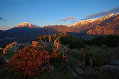 Mountain Sunrise, Corsica, France (Xindaan) Tags: morning blue schnee winter light red sky orange cloud white snow france