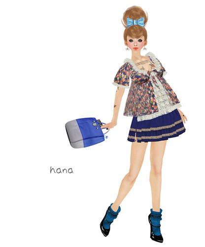 ***Ambrosia***girly tunic[blue_rose]