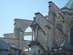 Chartres, Flying Buttresses Exterior of Choir, Close View