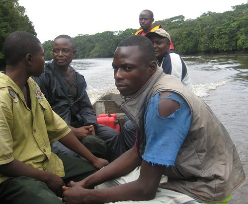 Okonde crossing the Lomami in our dugout