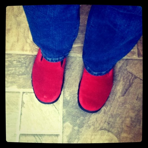 Happiness is red shoes!