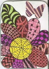 zentangle flower atc swapbot (Candyn29**) Tags: flower atc sharpie swapbot zentangle