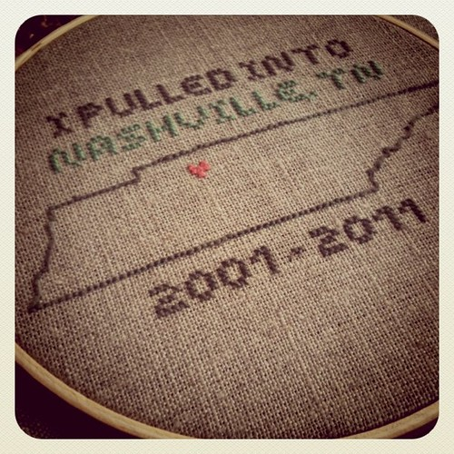 Tribute to Nashville I designed and stitched