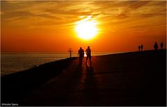 Silhouettes (Hindrik S) Tags: silhouettes man sunset sky sun zonsondergang zon zomer zee zeeland noordzee northsea noardsee sinne sinnendergong evening vlissingen boulevard shadow shade skaad schaduw red read rood yellow giel geel white landscape panorama nederland netherlands sonyphotographing sony sonyalpha a57 57 slta57 16300 tamron16300 tamronaf16300mmf3563dillvcpzdmacrob016 tamron