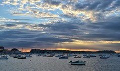 The Harbour (Tilney Gardner) Tags: sunset poole harbour dorset seascape boats clouds nikon