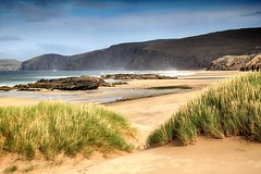 A place for mermaids & the ghosts of pirates (OutdoorMonkey) Tags: sandwoodbeach beach sandwoodbay sutherland scotland coast coastal seaside seashore shore sand dunes cliffs remote wild wilderness