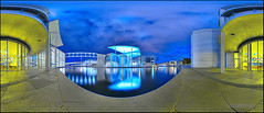 Paul-Lbe-Haus Marie-Elisabeth-Lders-Haus (Stefan Bock) Tags: panorama berlin architecture night canon germany deutschland nacht architektur dri hdr paullbehaus marieelisabethldershaus canon400d
