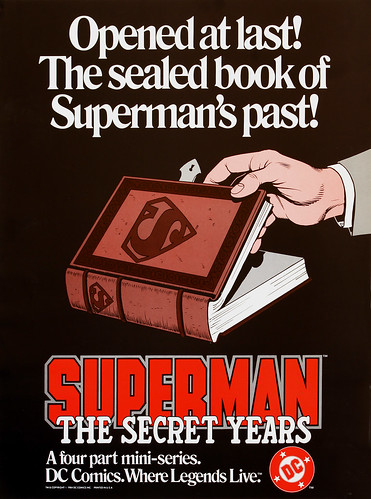 DC Comics promotional poster - Superman The Secret Years - 1984