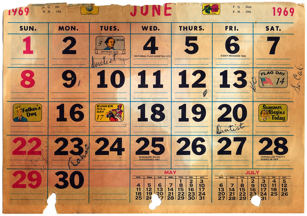 Calendar 1969.The World S Best Photos Of 1969 And Calendar Flickr Hive Mind