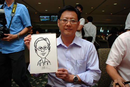 caricature live sketching for Thorn Business Associates Appreciate Night 2011 - 19