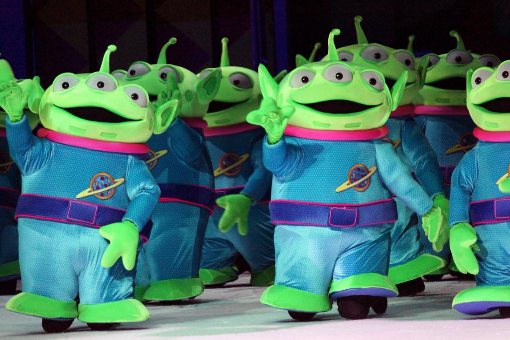 Green Disney Characters Little Green Man at Di...
