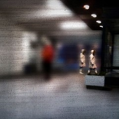 Stepping out (Anders Uddeskog) Tags: cameraphone iris urban art texture mobile espoo finland phone cellphone mobilephone iphone photofx phoneography iphoneart juxtaposer iphoneography iphone3gs blurfx