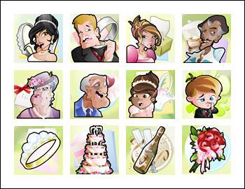 free Wacky Wedding slot game symbols