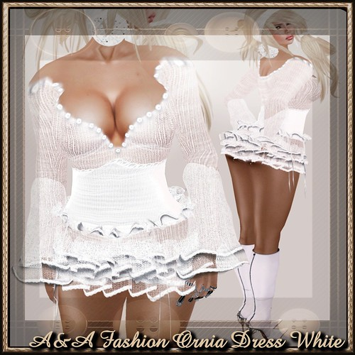 A&A Fashion Ornia Dress White