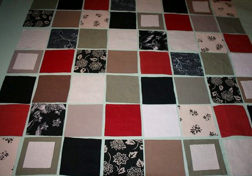 Work in Progress2 (linen block quilt)