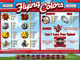 free Flying Colors slot
