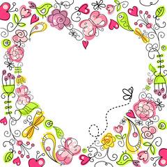 (alisafoytik) Tags: butterfly spring heart drawing valentine vector shutterstock microstock