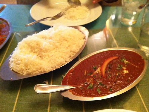 Dal Makhani and Rice