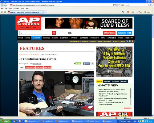 Frank Turner - In The Studio - Alt Press