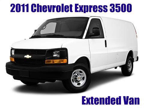 chevrolet express van picnik 3500 ext 2011