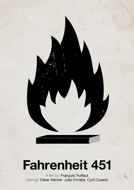 Fahrenheit 451 pictogram movie poster