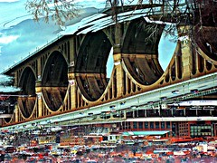 The World is Turned Upside Down (FlipMode79) Tags: bridge winter reflections photography dc upsidedown va dcist potomacriver keybridge flipmode79