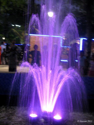 purple fountain