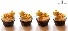 Tiny Chameleons (Little Cottage Cupcakes) Tags: birthday cupcakes turtle reptile snake frog lizard toad crocodile chameleon fondant cupcaketower sugarpaste littlecottagecupcakes