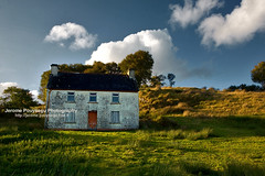 An old house (Jerome Pouysegu) Tags: voyage trip travel blue autumn trees ireland wallpaper vacation portrait sky irish cloud house art nature field clouds automne canon landscape eos 50mm europe sigma ciel connemara land 5d mayo wallpapers toulouse nuage nuages paysage maison fond irlande ecran lande irlandaise pouysegu