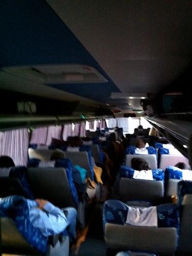 dentro del bus