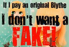 I play original (♡ rumik73  For the love of Blythe ♡) Tags: ebay fake seller