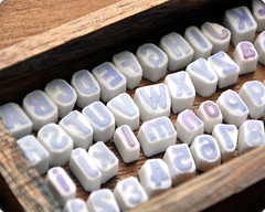 Alphabet letters hand carved rubber stamps!