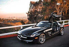 Mercedes SLS AMG (GHG Photography) Tags: auto black cars car speed photography mercedes benz la losangeles fast automotive olympus hollywood expensive luxury rare exclusive supercar fastest v8 sls sportscar amg horsepower gullwing mbz hypercar e520 ghgphotography