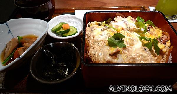 My order on my first visit - chicken katsu set