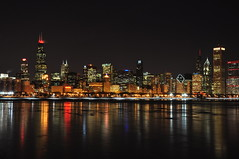 Love Is In The Air (Seth Oliver Photographic Art) Tags: chicago reflections illinois nikon midwest skyscrapers searstower cityscapes lakemichigan nightshots trumptower southloop chicagoatnight pinoy cityatnight chicagoskyline urbanscapes longexposures chicagoist d90 nightexposures wetreflections 20secondexposure winterinchicago sooc willistower setholiver1 aperturef220 18105mmnikkorlens manualexposuremode tripodmountedshot nocturneimages remotetriggeredshot urbanskylinesatnight coldnightsinchicago
