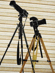 2 tripods (boomtown525) Tags: hasselblad pme45 cf250mm