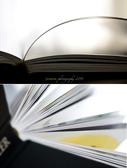 Pages (dhmig) Tags: stilllife closeup backlight creativity book nikon diptych pages bokeh details naturallight books 50mmf28 nikond7000 dhmig dhmigphotography